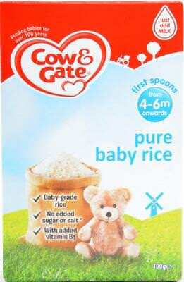 Cow & Gate Pure Baby Rice (4-6months onwards) Exp October 2018