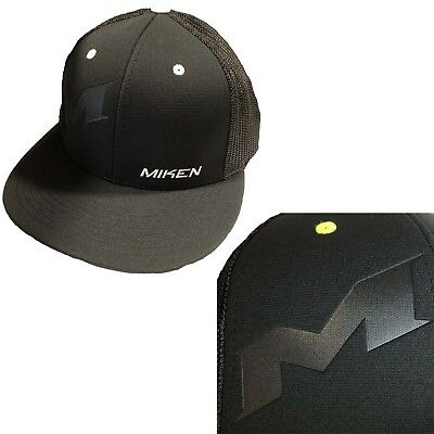Miken Embossed Hat by Richardson R165–Black/White Button/ Embossed Miken SM/MD