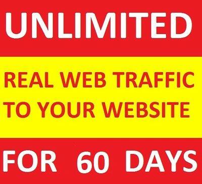 UNLIMITED Genuine Real Website TRAFFIC for 2 months(60 days) for $5