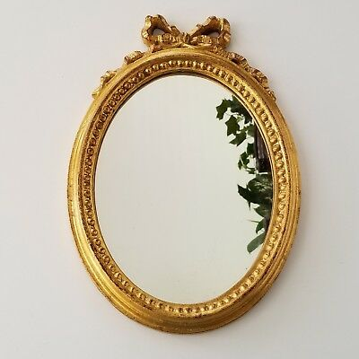 VINTAGE OVAL MIRROR With Wood Carved Gold Frame: Great Vintage ...