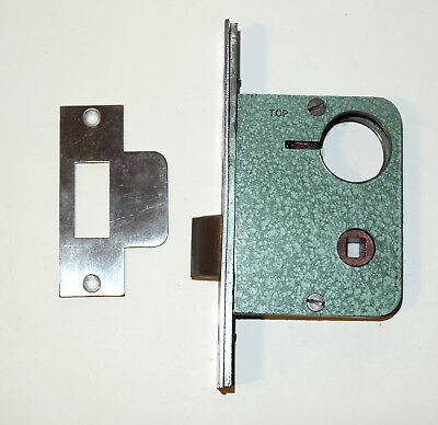 Old Yale 6000 Series #6025 Cylinder Mortice Nightlatch Satin Chrome Finish NOS