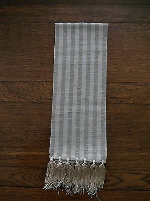 "European Rustic Heavy Linen Guest Towel 42"" X 18"" with Hand Tied Fringe"