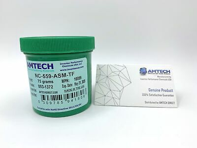 AMTECH NC-559-ASM-TF No-clean Tacky Solder Flux (ROL0) 75g Jar USA MPN 16099