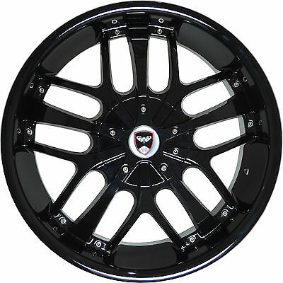 4 Gwg Wheels 18 Inch Black Red Mill Drift Rims Fits 5x108 Lincoln