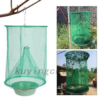 Reusable Pest Control Fly kill Trap Tools Hanging Fly Catcher Killer Net Hot AU