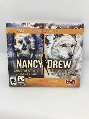 Nancy Drew Legend Crystal Skull / White Wolf Of Icicle Creek Computer Game NEW