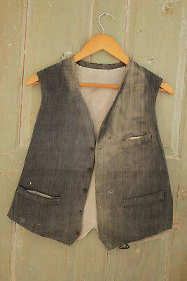 Men's vest waistcoat French clothes waistcoat clothing 1900's early old faded