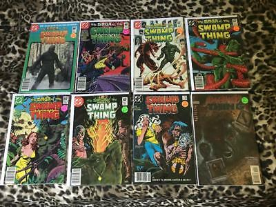 Swamp Thing 2,3,4,6,8,9,59,140 DC Comics avg grade VF Bronze-Copper Age lot