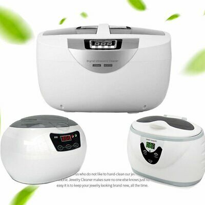 2.5L Stainless Steel Ultrasonic Cleaner Jewelry Glasses Lens Watches Rings Tank