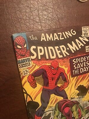 AMAZING SPIDER-MAN #40 comic book 1966-Death of the Green Goblin! 6.5-7.5