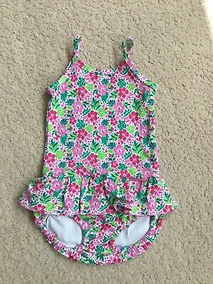 Jojo maman bebe pretty floral girls swimming costume 6-12 months