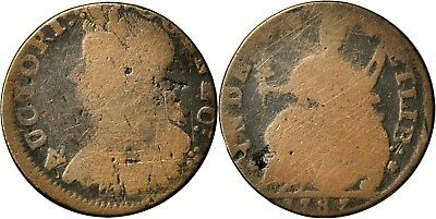 1787 Connecticut Copper, Miller 8-O, the Tallest Head type, Fine, very neat type
