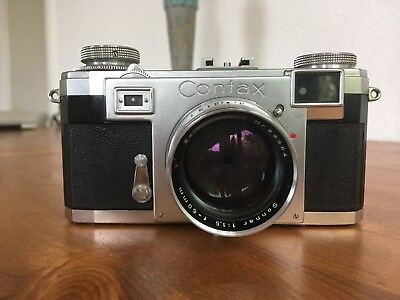 ZEISS IKON Contax IIa mit Zeiss - Opton Sonnar 1:1,5  f=50mm Black Dial