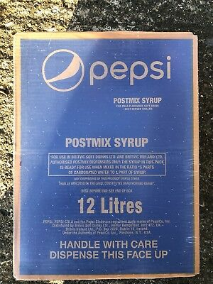 1x 12L Pepsi Post Mix Syrup BIB, Soda dispensing postmix