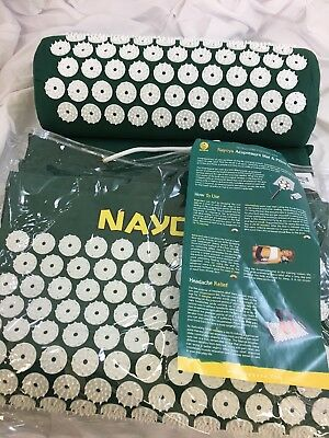 NWT Nayoya Acupressure Mat & Pillow Set for Back/Neck Pain Relief and Muscle(KF)
