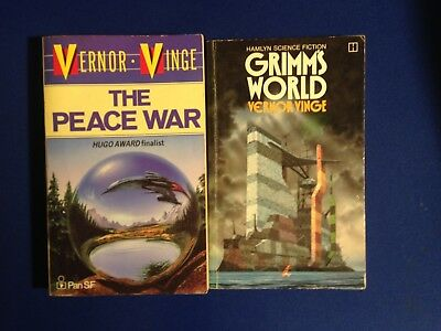 The Peace War and Grimm's World by Vernor Vinge