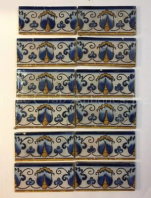 Ca 16 -1700 Lisbon Portugal Portuguese SET OF 12 TILES Tin-glazed earthenware