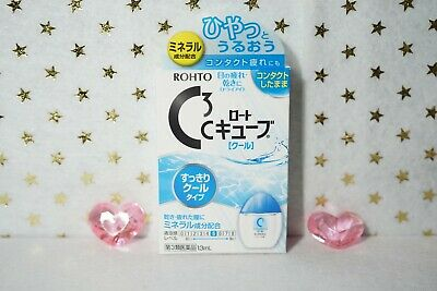 Rohto JAPAN C3 C Cube Cool Eye Drops for Contact 13ml FREE SHIPPING From JAPAN