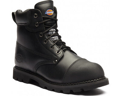Dickies Crawford Safety Work Boots Steel Toe Heat Resist & Steel Sole Black 7-12