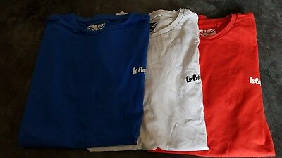 Men's t shirts Size large bundle (x3) Lee Cooper red white and blue