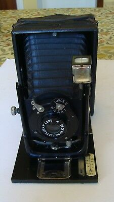 Vintage Houghton Ensign Cameo Folding Camera with Plates and Case 1920s