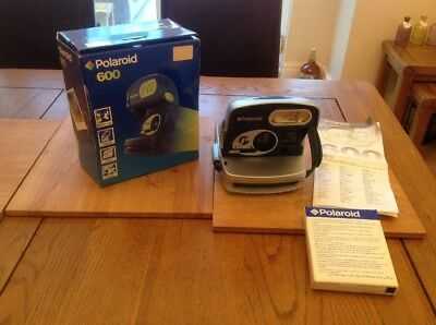 Polaroid P600 Camera With Box And Instructions Come With Out Of Date New Film GC