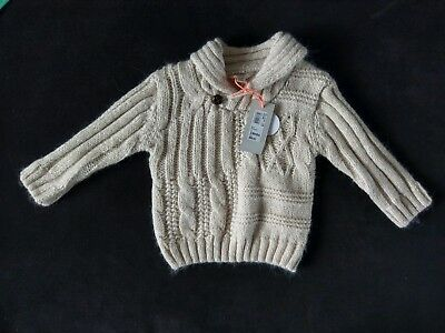 BNWT River Island Mini 3-6 Months Baby Boys Cable Knit Jumper Top