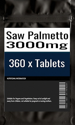 360 x Saw Palmetto 3000mg - Hair Loss Prostrate Urinary Tract Tablets
