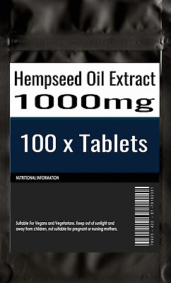 100 x Hemp Seed hempseed Oil 1000mg healthy hair skin & brain