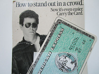 Lou Reed American Express credit card display