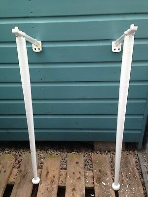 Vintage Pair Of Cast Iron Belfast/Butler Sink Support Legs Brackets