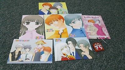 Fruits Basket- Postcard Set & Lucky Charm Key Chain- Natsuki Takaya- Import
