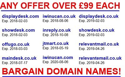 BARGAIN! Your New Domain! Order Yours Today! All offers over £99 considered.