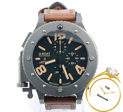 U-Boat U-42 6475 53mm Limited Edition to 999 Automatic Titanium Watch Box Papers