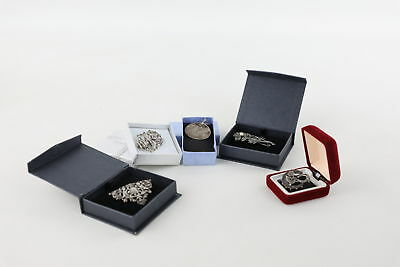 5 Vintage / Antique .925 Sterling Silver Brooches inc. Marcasite & Engraved 38g