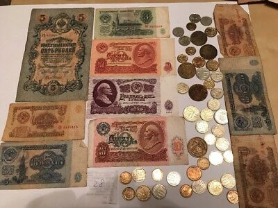 set 1,3,5,10,25 rubles USSR, more than 30 different coins