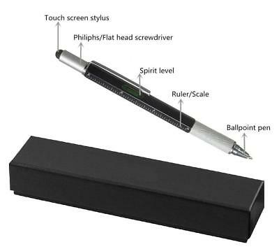 GRADUATION UNISEX GIFT-BLACK PEN with SILVER MORTORBOARD HEAD in a GIFT BOX-NEW