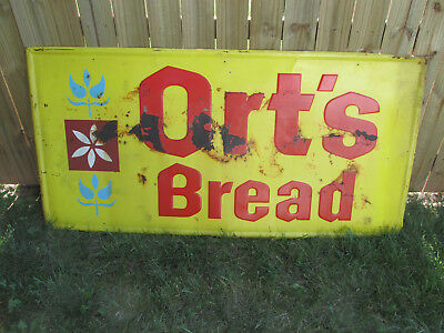 Vintage Advertising Sign, Ort's Bread, very Large 6' x 3', 1960