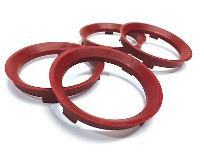 66.6 - 57.1 Spigot Rings, Set of 4, Hub Rings, TUV Approved, VW AUDI SEAT SKODA