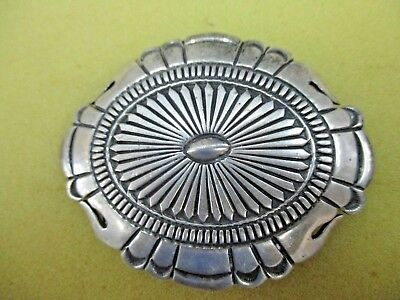 Native American Sterling Silver Belt Buckle Concho stamped Style-Signed
