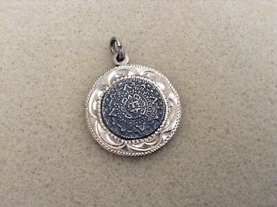 Beautiful Vintage Sterling Silver Pendant Mexico...Mayan?