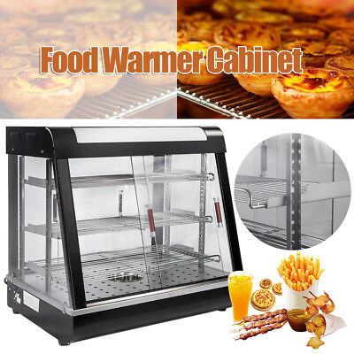 Commercial Food Bread Heated Display Warmer Cabinet Case Restaurant Food Court