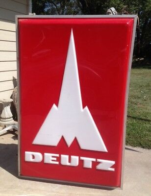 Vintage Large Deutz  Dealership Old Farm Sign Rare!!