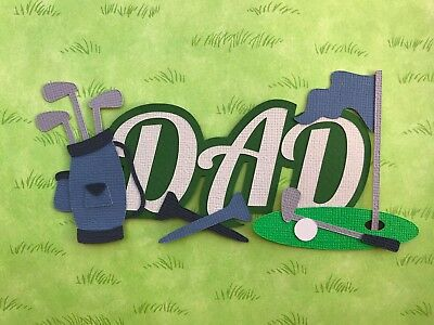 Fully assembled 'DAD' golf themed scrapbook title