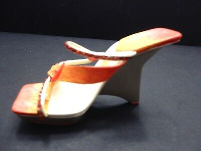 """Just the Right Shoe by RAINE 2006 """"FLASH POINT""""  WEDGE SANDAL   EUC"""