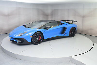 2017 Lamborghini Aventador Roadster in Blue LeMans in 1,561 miles 2017 LAMBORGHINI AVENTADOR SV ROADSTER IN BLUE LEMANS WITH NERO COSMUS INTERIOR