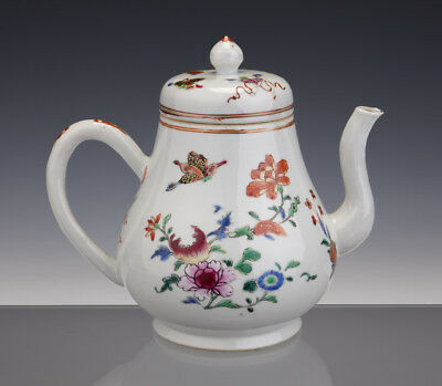 Large Perfect Chinese Porcelain Fam-Rose Teapot + Cover 18th C. Qianlong
