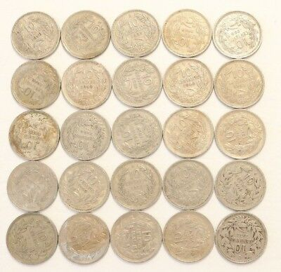10 Centavos Chile 1921-1940 Coin Lot Of 25 Foreign World Combined Shipping D99