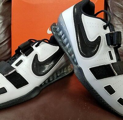 4465ab8ad9720f Brand New In Box Nike Romaleos 2 Mens Weightlifting Shoes White Black  Swoosh 101