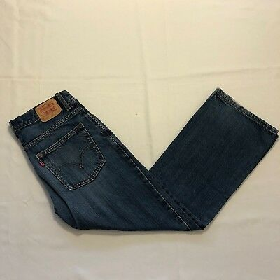 Levis 527 Boot Cut Medium Wash Boys Size 16 Regular 28 x 28